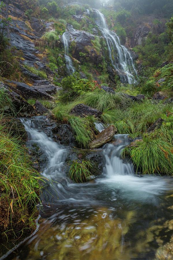 Waterfall Of Cadarnoxo, Galicia Photograph