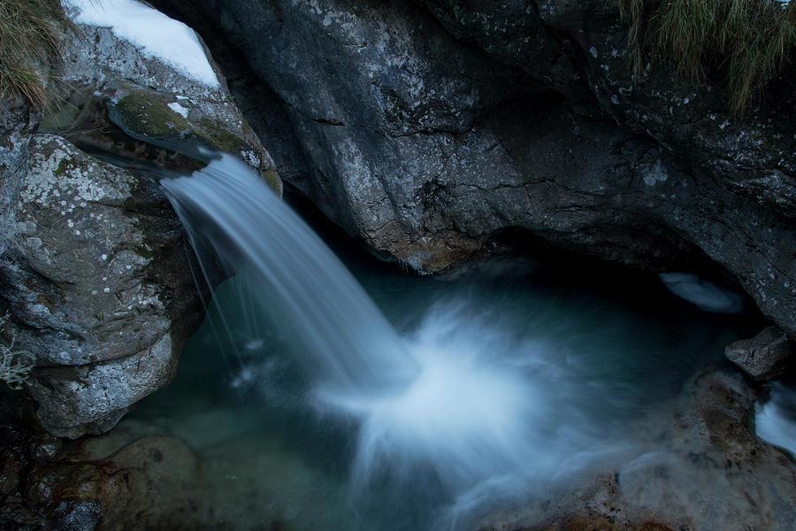 Waterfall of Val Vertova by Pietro Ebner