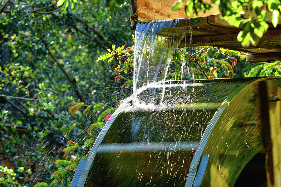 Waterwheel Detail 2 by Linda Brody