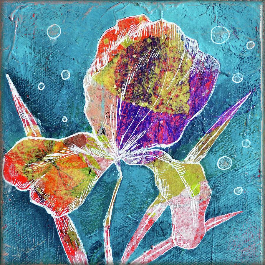 Watery Iris I Painting