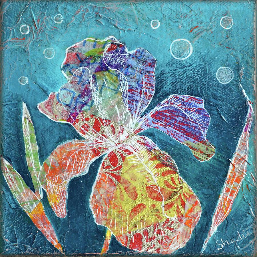 Watery Iris II Painting