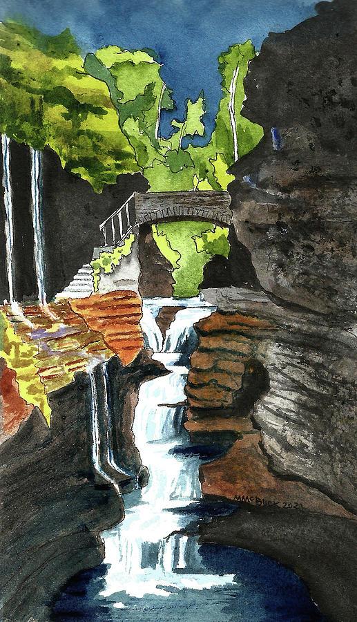 Watkins Glen State Park, New York Painting