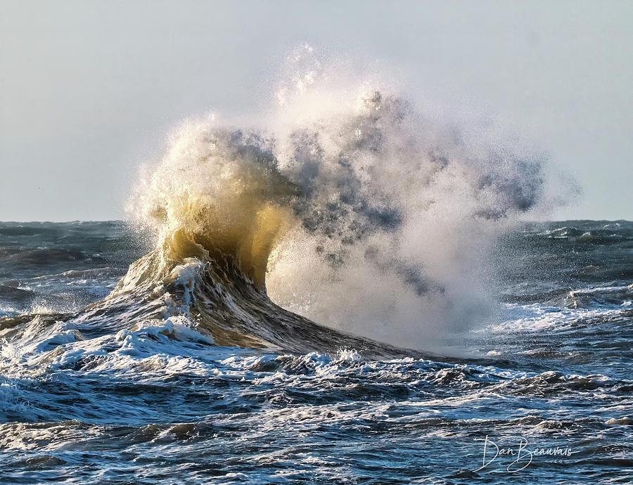 Wave Collision 9715 Photograph