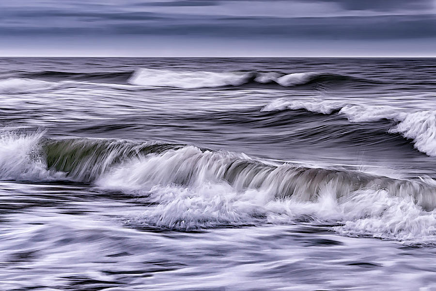 Waves on a Stormy Palm Coast by Charles LeRette