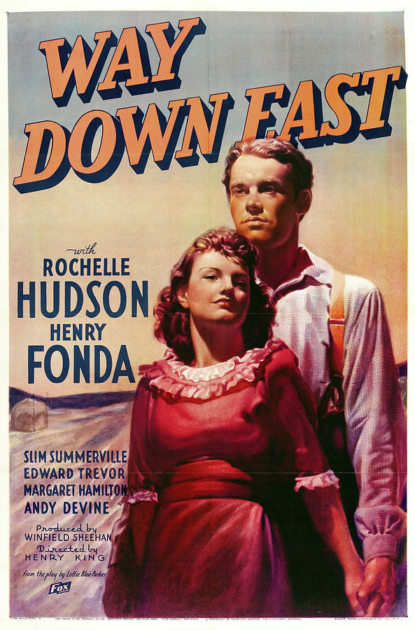 way Down East, With Rochelle Hudson And Henry Fonda, 1935 Mixed Media