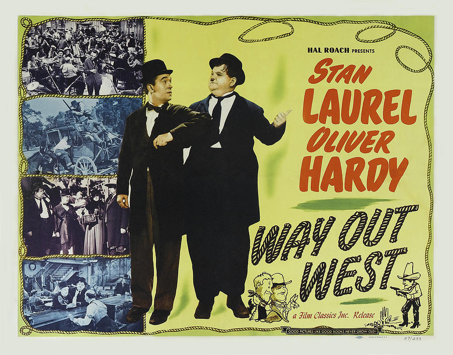 way Out West, With Laurel And Hardy, 1937 Mixed Media
