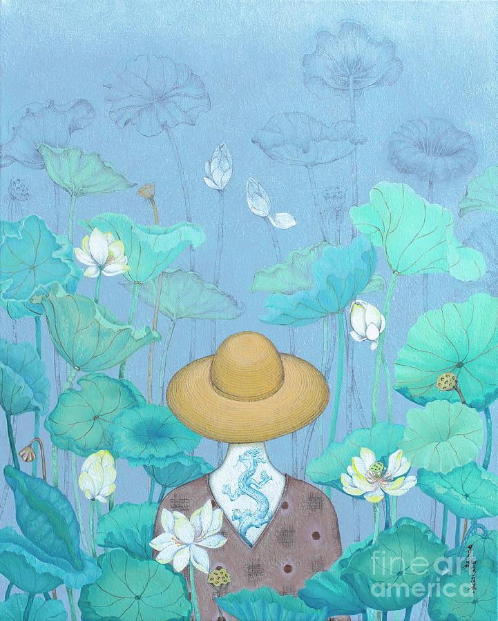 Lotus Painting - Way to the Self by Yuliya Glavnaya
