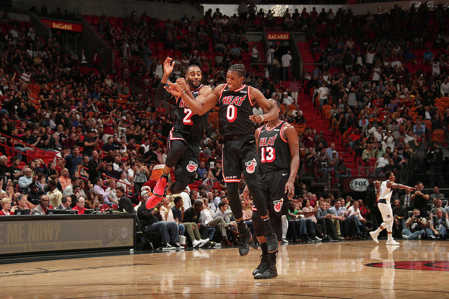 Wayne Ellington and Josh Richardson Photograph by Issac Baldizon
