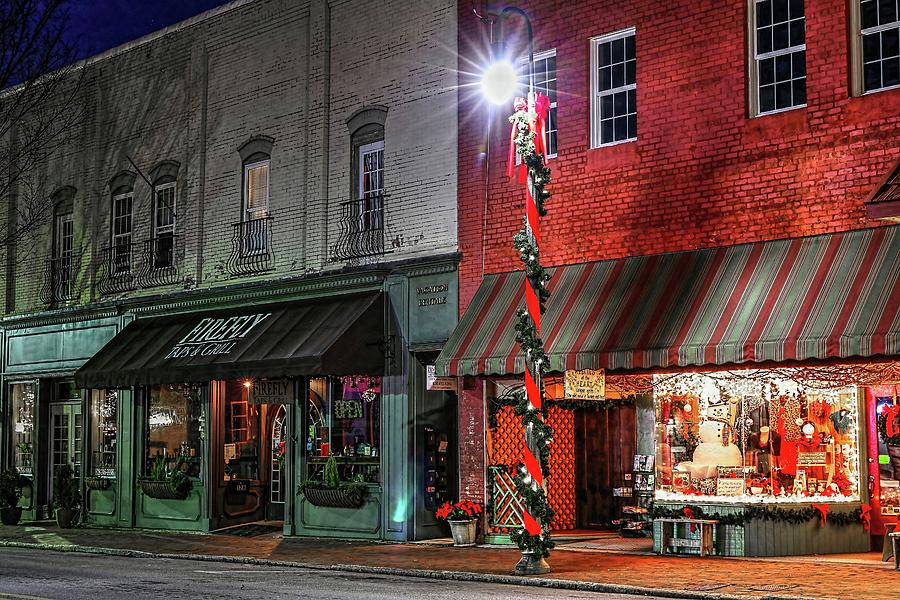 Waynesville North Carolina Downtown Winter by Carol Montoya