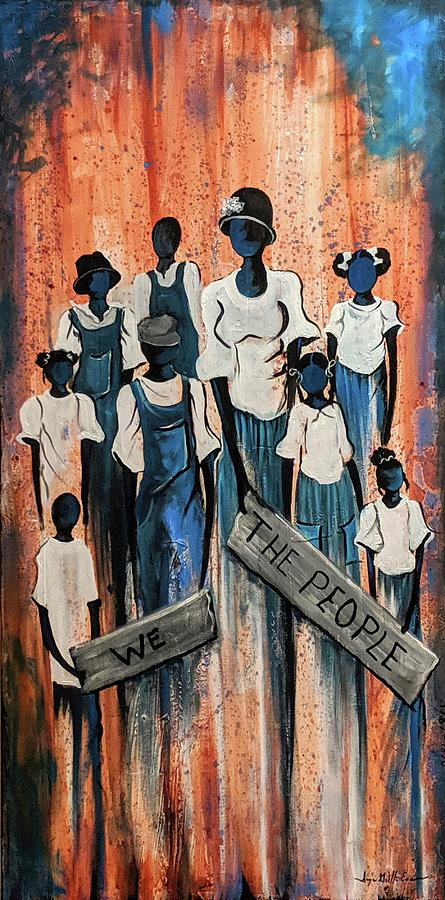 We The People Painting by Sonja Griffin Evans