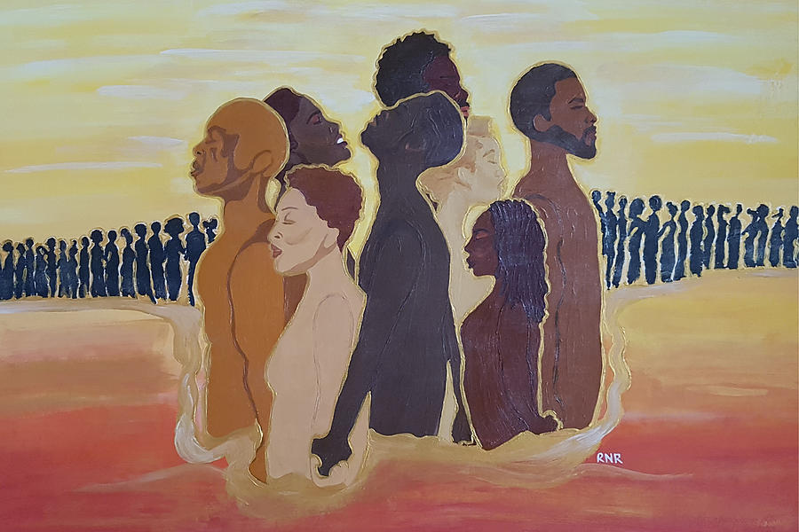 Black Painting - We The People Who Are Darker Than Blue by Rachel Natalie Rawlins