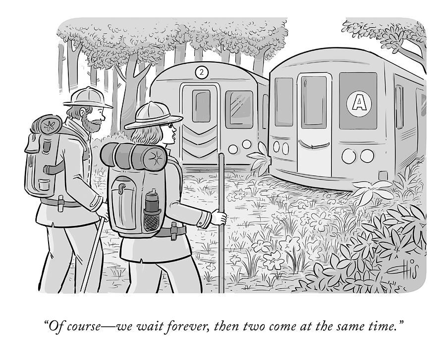 We Wait Forever Drawing by Ellis Rosen