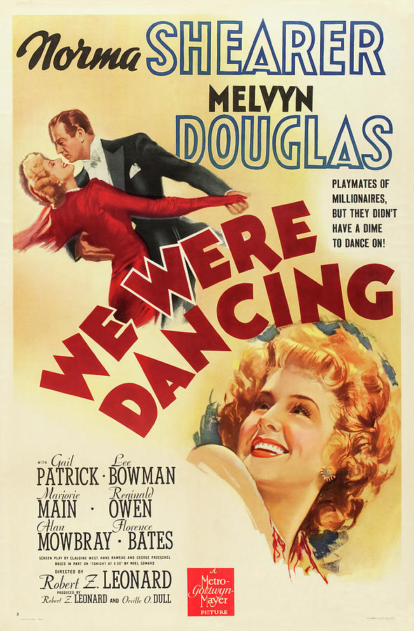 we Were Dancing, With Norma Shearer And Melvyn Douglas, 1942 Mixed Media