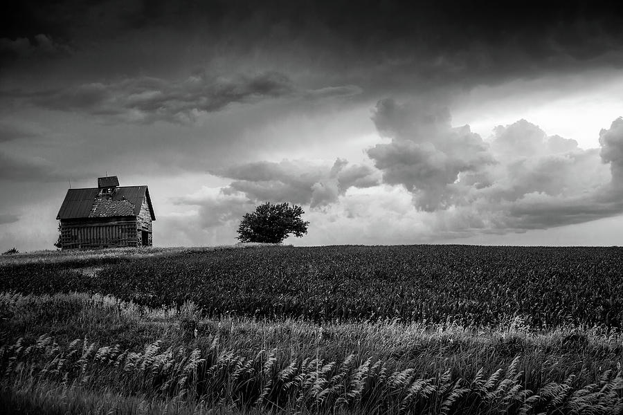 Weathered Barn After A Storm Photograph