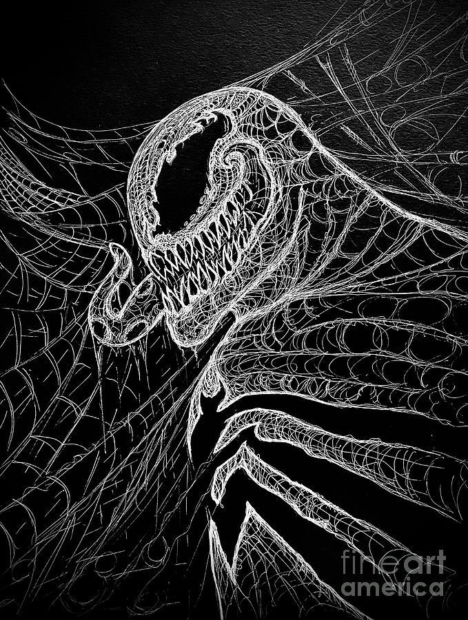 Web Of Venom Drawing