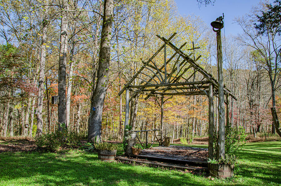Wedding Photograph - Wedding Arbor by Jim Cook