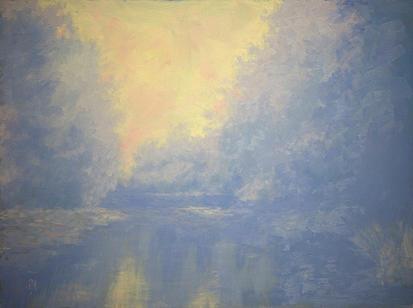 Misty Painting - Wekiva Morning by Diane Martens