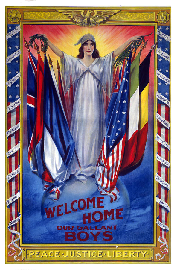 Welcome Home War Poster by Carlos Diaz