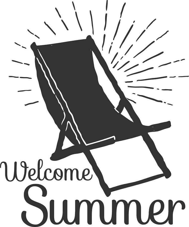Welcome Summer Beach Chair by Passion Loft