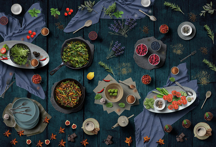 Welcome To My Delicious And Colorful Dinner by Johanna Hurmerinta