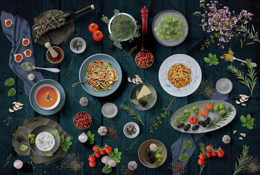Pasta Photograph - Welcome To My Pasta Night by Johanna Hurmerinta