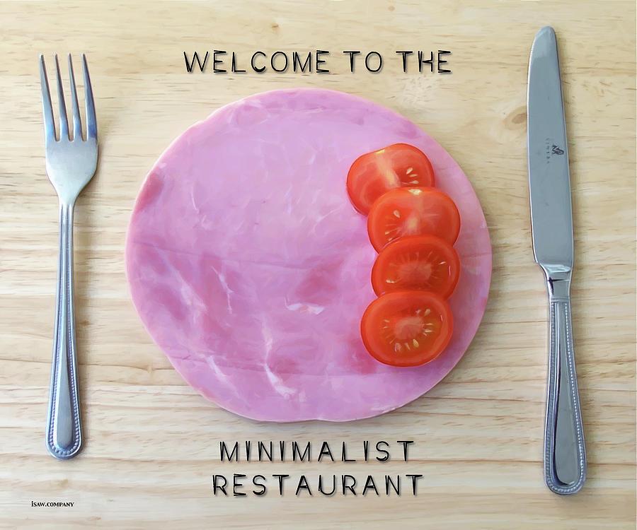 Welcome To The Minimalist Restaurant Digital Art