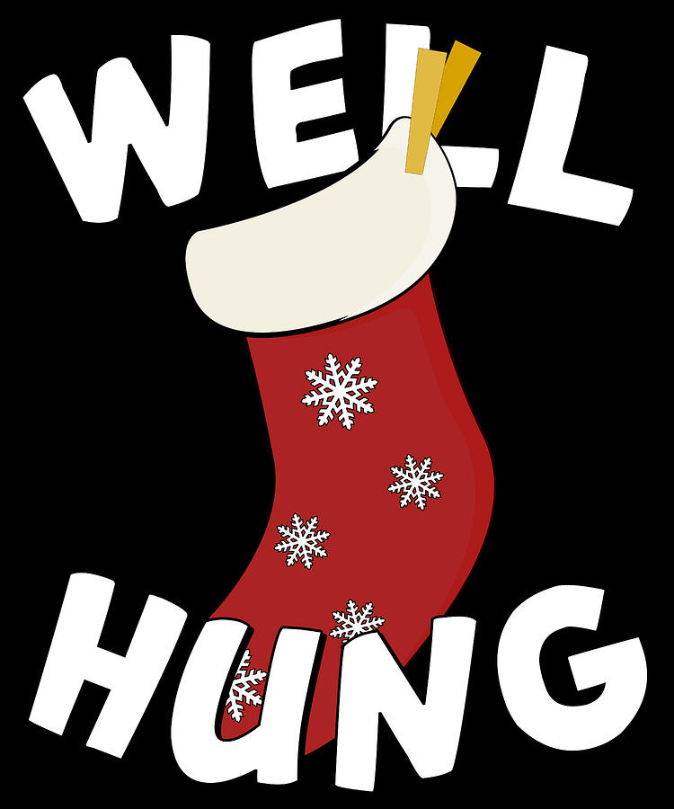 Well Hung Christmas Stocking Funny by Flippin Sweet Gear