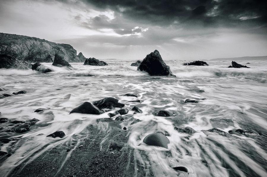 Welsh Blue Surf Digital Art