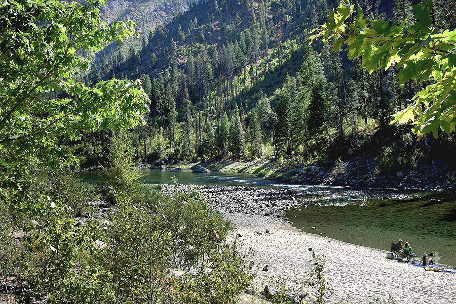 Wenatchee River by Mae Wertz