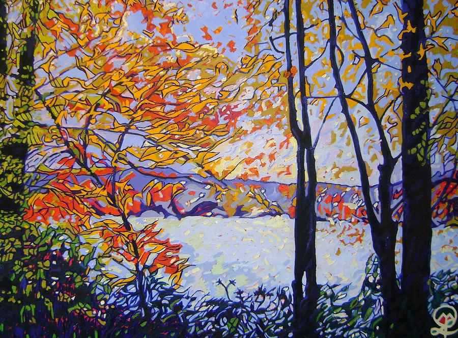 Fall Foliage Painting - Wendell Pond by Therese Legere
