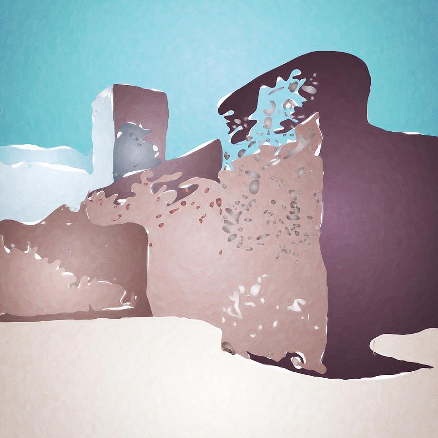 West of Santa Fe Digital Art by David Hansen