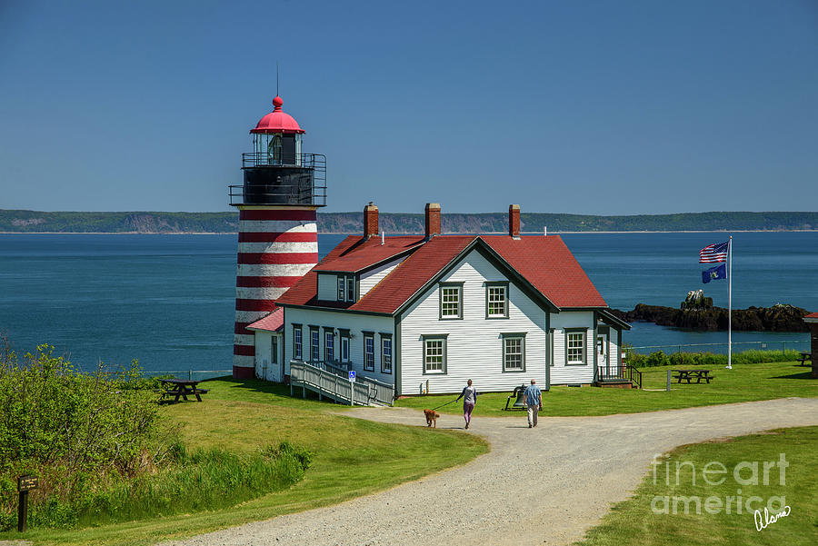 West Quoddy Head Light House Photograph