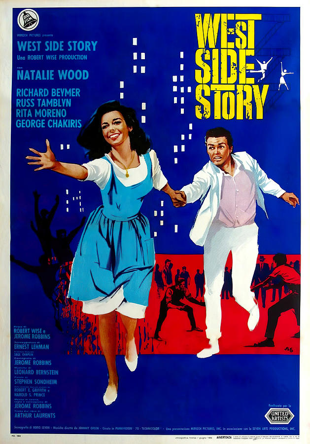 west Side Story 1, With Natalie Wood, 1961 Mixed Media