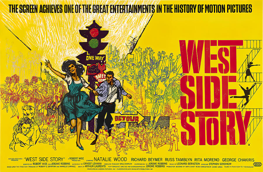 west Side Story 3, With Natalie Wood, 1961 Mixed Media