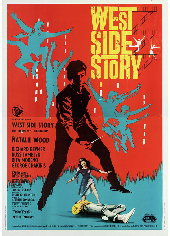 west Side Story Poster 1961 Mixed Media