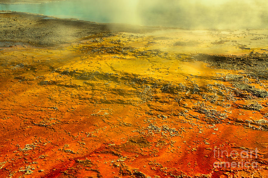 West Thumb Steaming Abstract by Adam Jewell