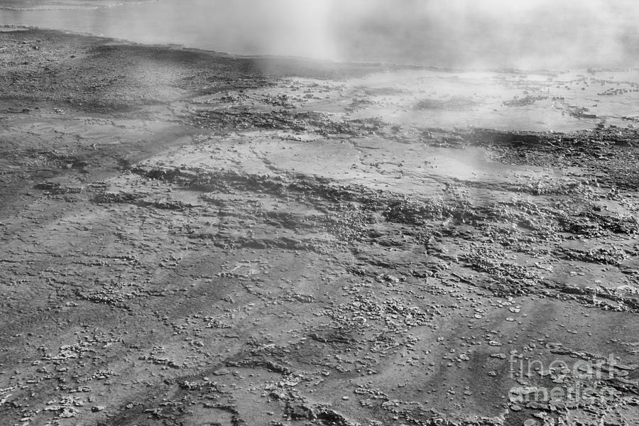 West Thumb Steaming Abstract Black And White by Adam Jewell