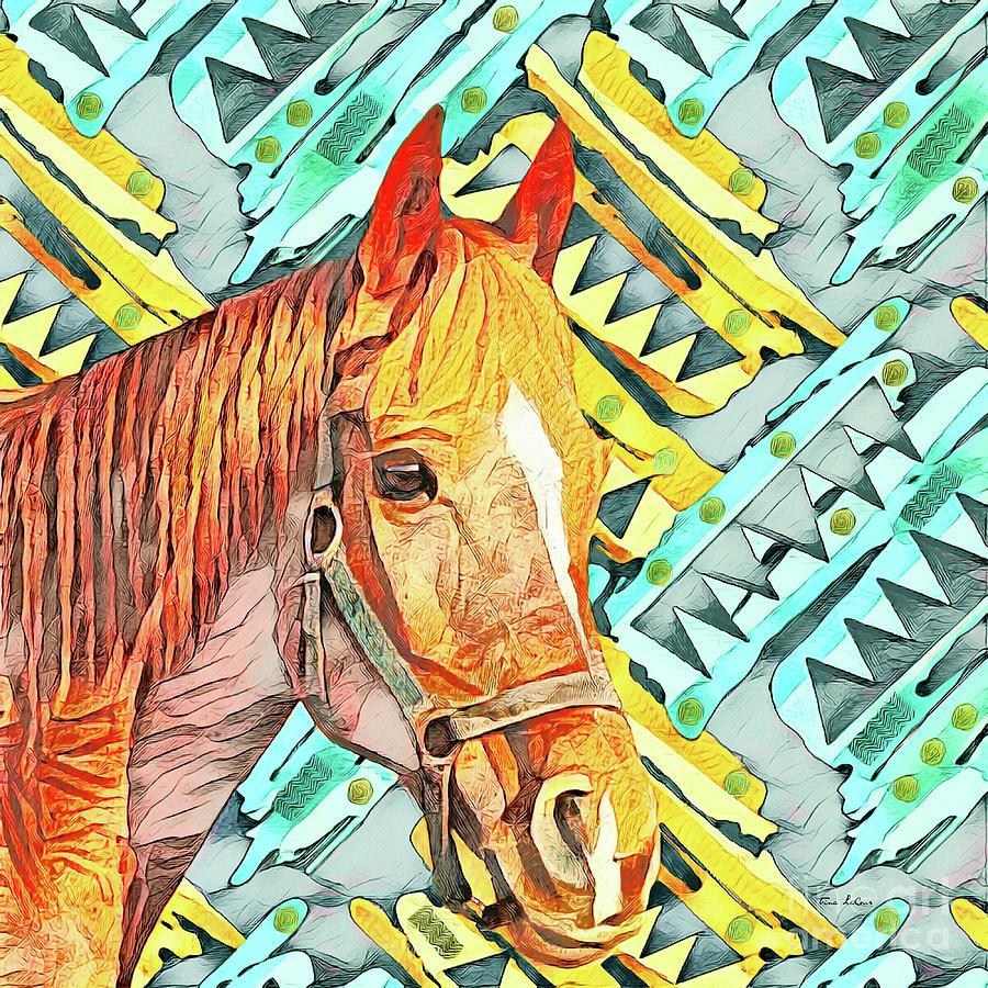 Western Horse Digital Art