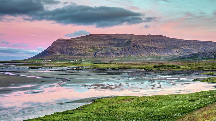 Westfjords Of Iceland Landscape At Dawn Photograph