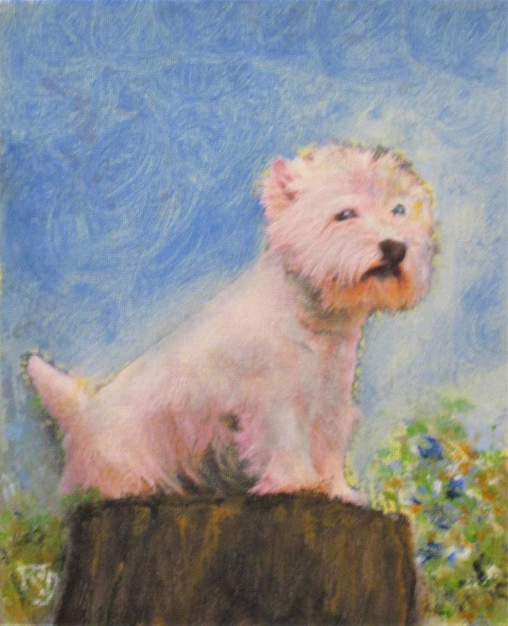 Westie On High Painting