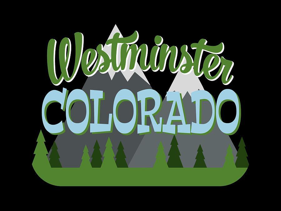 Westminster Photograph - Westminster Colorado Retro Mountains Trees by Flo Karp