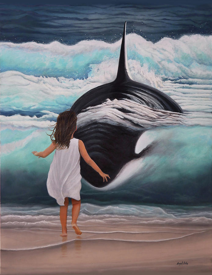 Whale Shark Painting - Whale Shark Hunting by Angel Ortiz