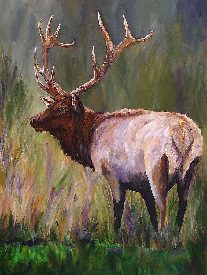 Whapiti - ELK Now Avaliable  Painting by Mary Jo Zorad