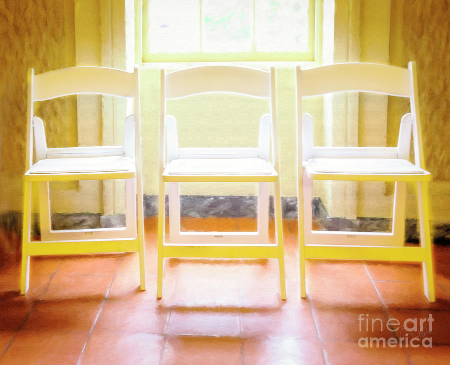 Wharton's Three White Chair by Craig J Satterlee