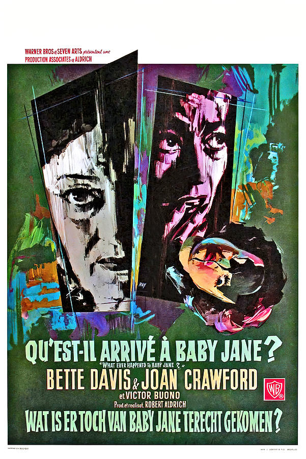what Ever Happened To Baby Jane, With Bette Davis And Joan Crawford, 1962 Mixed Media