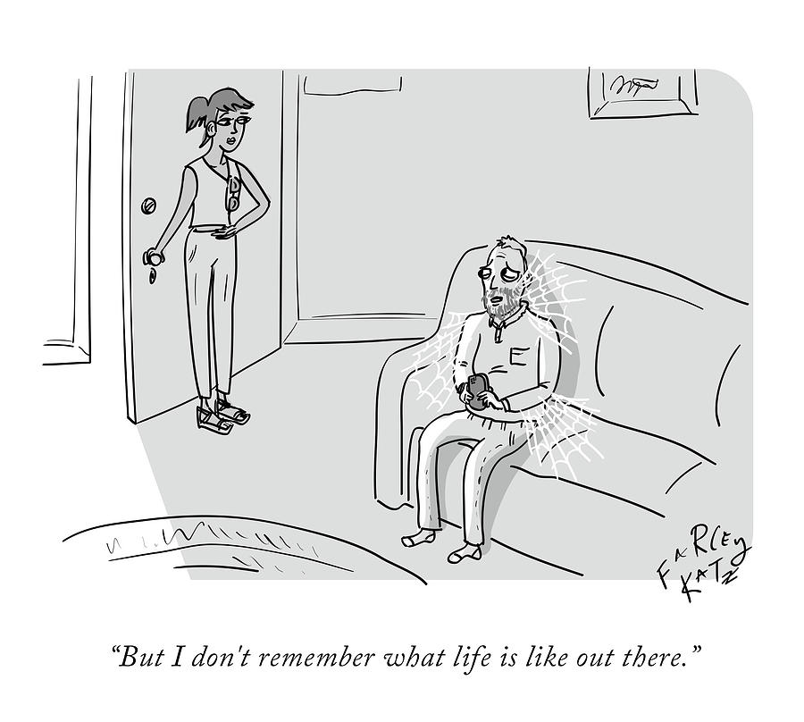 What Life Is Like Drawing by Farley Katz