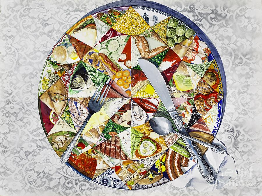 Kaleidoscope Painting - Whats For Dinner? by Merana Cadorette