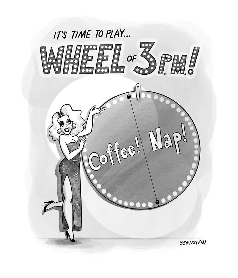 Wheel of 3PM Drawing by Emily Bernstein