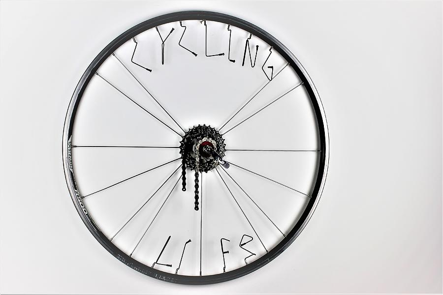 Bicycle Wheel Sculpture - Wheel of Design by Michael Ediza
