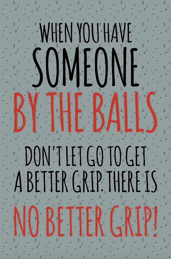 When You Have Someone By The Balls by Floyd Snyder